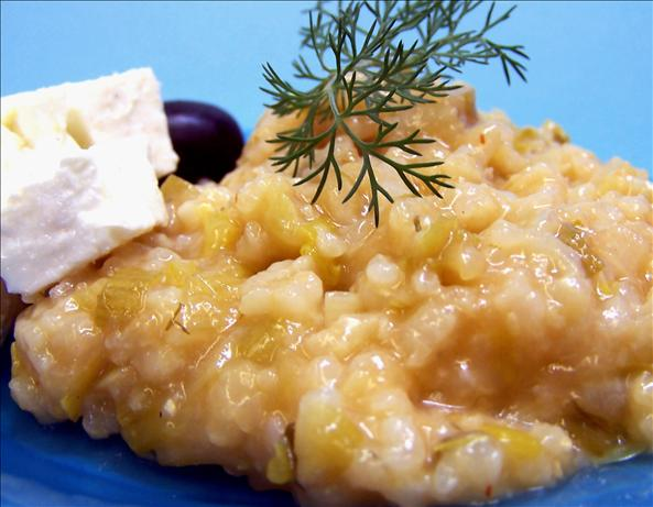 Prassorizo (Greek Leek Risotto). Photo by PaulaG