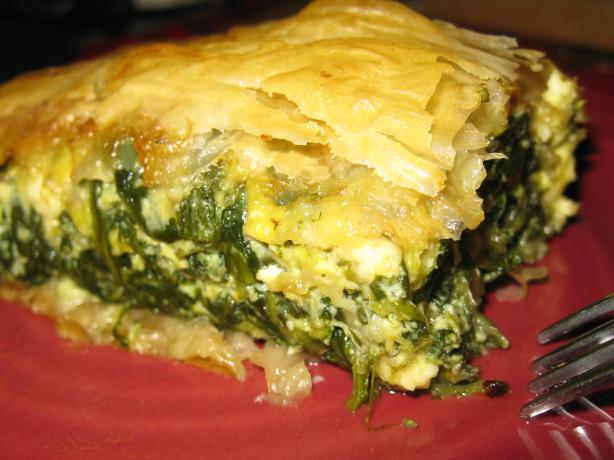Spanakopita, Spinach Pie. Photo by threeovens