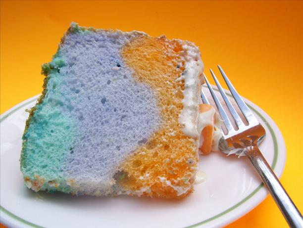 Tie-Dyed Angel Food Cake. Photo by Chef Mommie