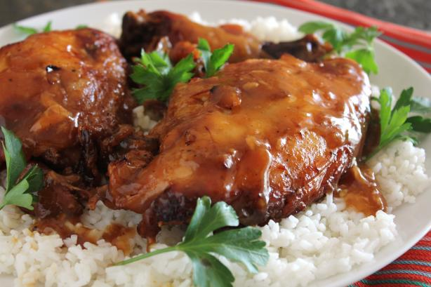 Crock Pot Garlic Brown Sugar Chicken. Photo by Delicious as it Looks