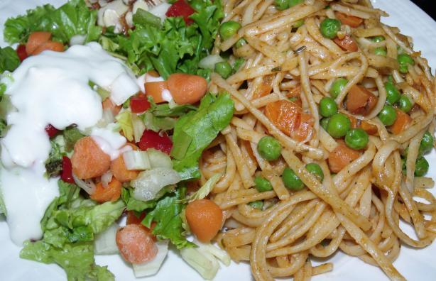 Pasta With Tomato and Peas. Photo by Southern Lady