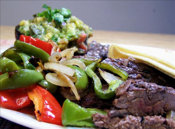 Grilled Skirt Steak With Avocado-Tomato Salsa. Photo by PaulaG