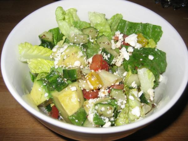 Greek Chopped Salad. Photo by Halcyon Eve