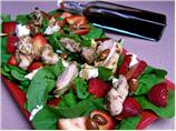 Chicken Strawberry Salad W/ Goat Cheese