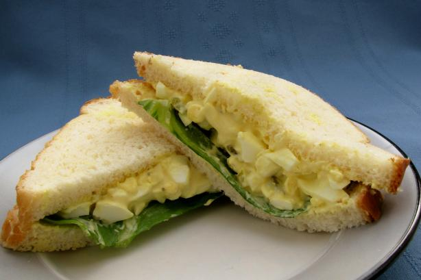 Simple Homemade Egg Salad Sandwich. Photo by lazyme