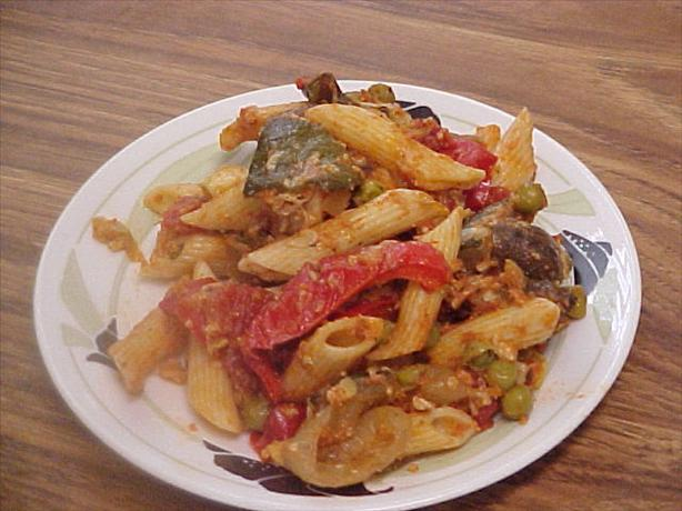 Baked Penne With Roasted Vegetables,courtesy Giada De La. Photo by Alisa Lea
