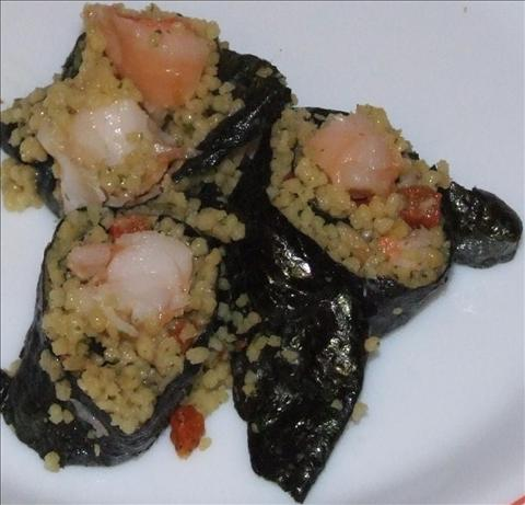 Lobster and Cous Cous Sushi. Photo by Peter J