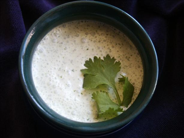 Mama's Cilantro Cream Sauce. Photo by kiwidutch