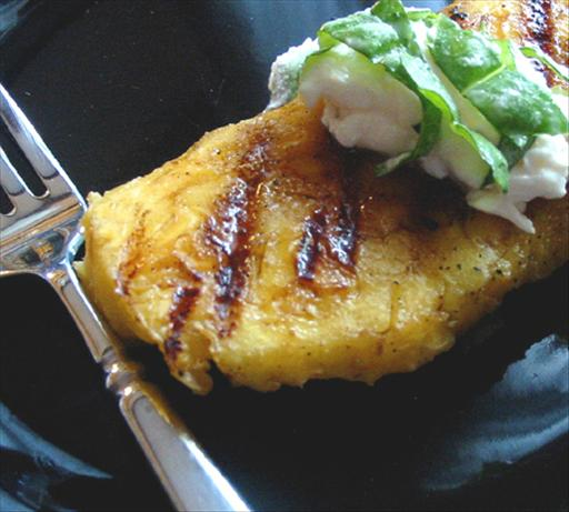 Grilled Pineapple With Basil. Photo by Caroline Cooks
