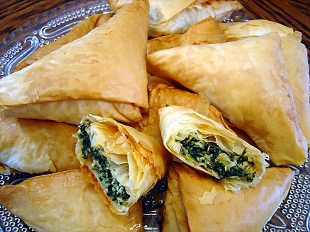 Spanakopita Triangles. Photo by :(