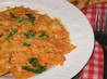 Bow Tie Pasta With Roasted Red Pepper and Cream Sauce. Recipe by smiles4u