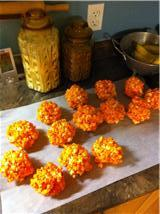 Chewy Popcorn Balls. Photo by Trish Za Dish