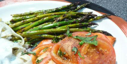 Grilled Asparagus. Photo by Mikekey