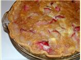 Rhubarb Pineapple Custard Pie
