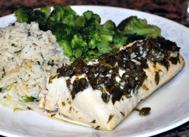 15 Minute Baked Halibut With Herbs. Photo by KateL