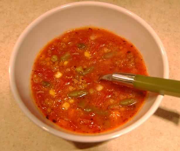 Easy Vegetable Beef Soup. Photo by Liz in NJ