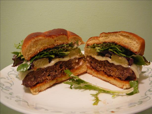 Hawaiian  Grilled Hamburgers. Photo by BLUE ROSE
