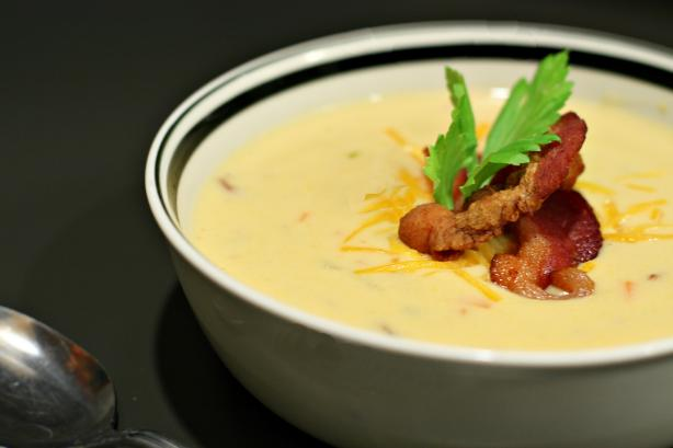 Wisconsin Beer Cheese Soup. Photo by CulinaryExplorer