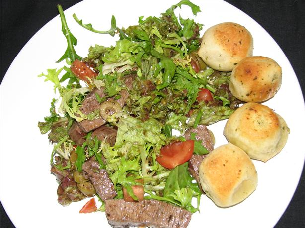 Mediterranean Steak Salad. Photo by Luschka