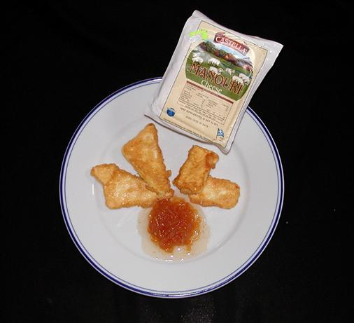 Manouri Me Kythoni: Fried Cheese W/ Quince Preserves. Photo by Mrs Goodall