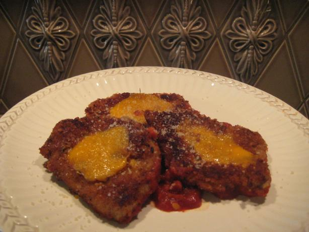 Pork Cutlets Parmesan with Tomato Sauce. Photo by gailanng