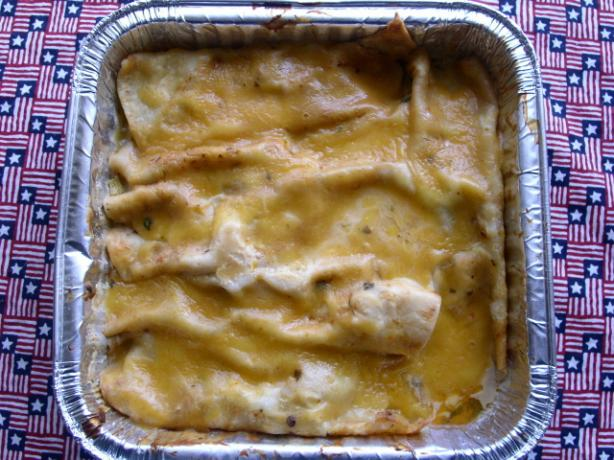 Chicken Enchiladas With Ancho Chile Cream Sauce. Photo by Chabear01