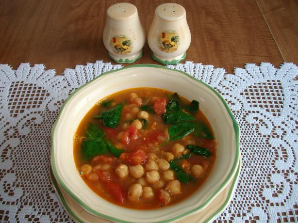 Moroccan Spiced Chickpea Soup. Photo by Domestic Goddess