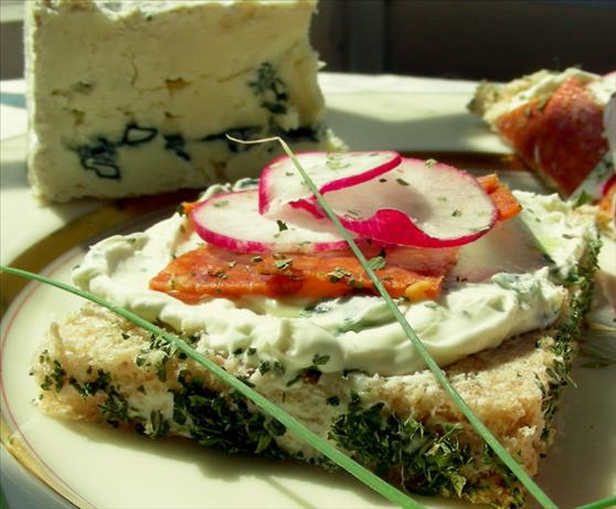Blue Cheese, Salami and Radish Sandwiches. Photo by Andi of Longmeadow Farm