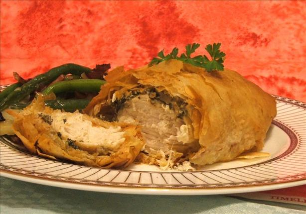 Greek Style Chicken Wrapped in Phyllo. Photo by Fairy Nuff