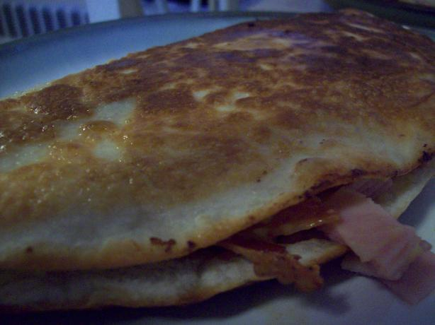Bacon and Egg Ranch-Salsa Breakfast Quesadillas. Photo by berry271