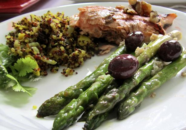 Greek Olive and Asparagus Saute. Photo by Rita~