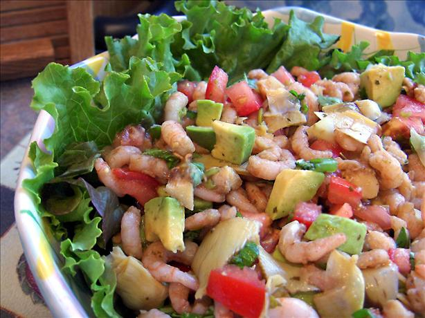 Artichoke Avocado Shrimp Salad. Photo by Derf