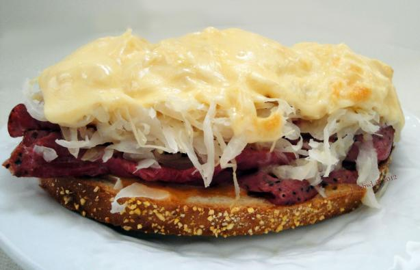 Grilled Reuben Sandwich. Photo by Debbwl