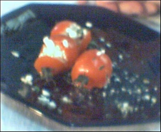 Feta Stuffed Cherry Tomatoes. Photo by Dienia B.