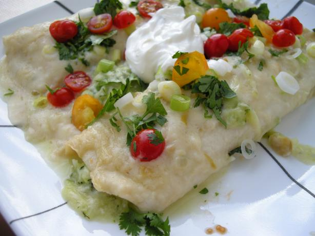 Enchiladas De Calabacitas Con Salsa Crema De Chile (Zucchini Enc. Photo by Teddy&#39;s Mommy