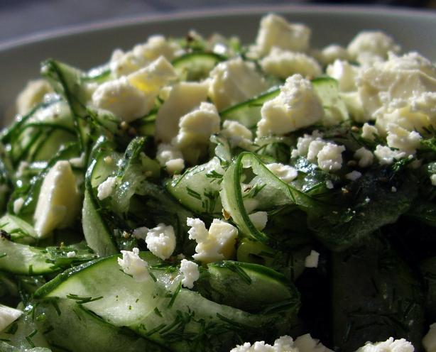 Cucumber-Dill Salad With Feta Cheese. Photo by AmandaInOz