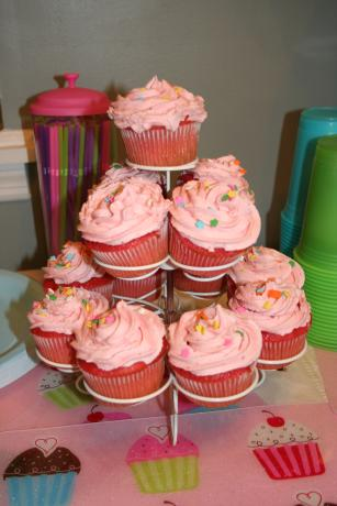 Pretty in Pink Strawberry Cupcakes. Photo by Kitchen Witch Steph