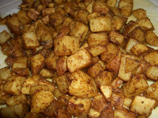 Masala Potatoes. Photo by mersaydees