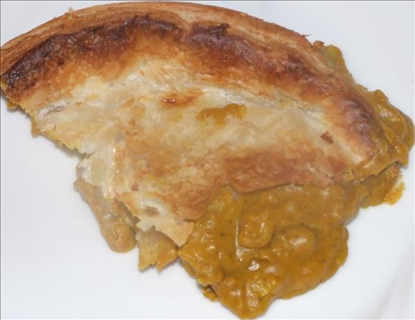 Tassie Curry Scallop Pie. Photo by Peter J