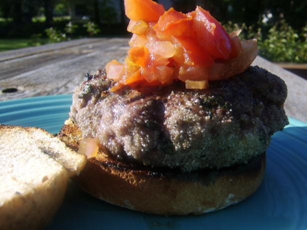 Aussie Lamb Burgers With Goat Cheese and Tomato Relish. Photo by LifeIsGood