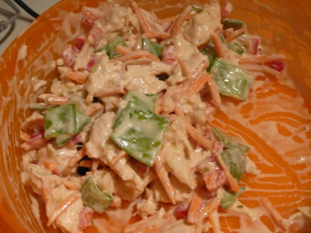 Weight Watchers Chinese Chicken Salad With Creamy Soy Dressing. Photo by BLUE ROSE
