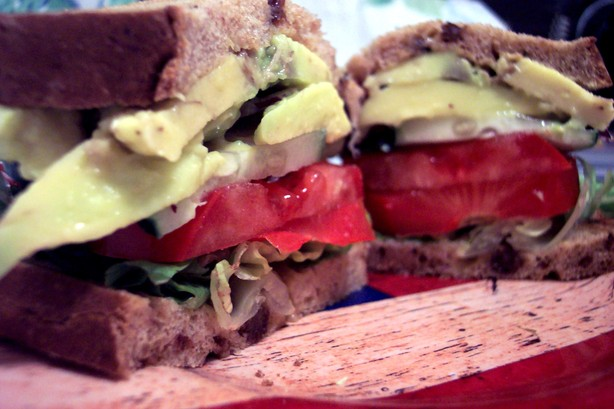 Tomato, Cucumber, & Avocado Sandwich. Photo by HeatherFeather