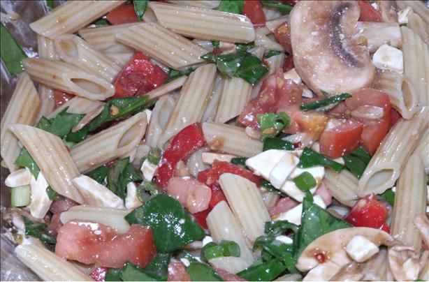 Spinach and Pasta Salad. Photo by Peter J