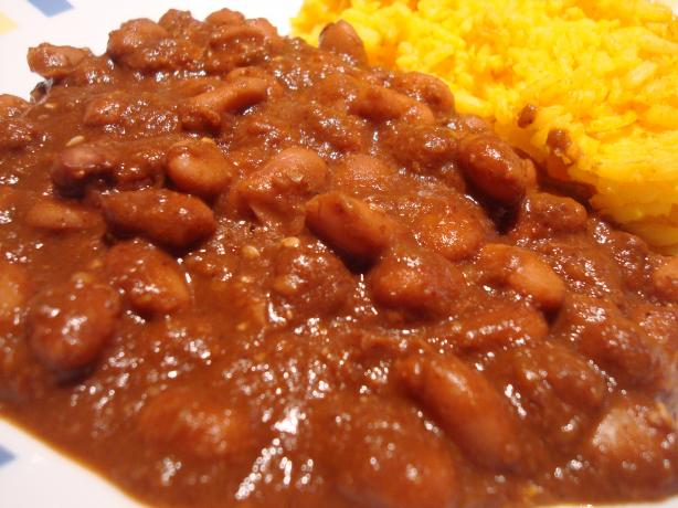Mole Pinto Beans. Photo by Starrynews