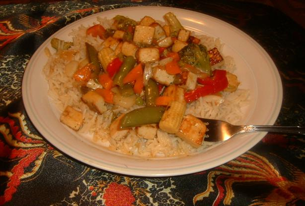 Sweet and Sour Vegetables With Tofu. Photo by Cynna