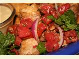 Panzanella Salad With Bacon, Tomato and Basil