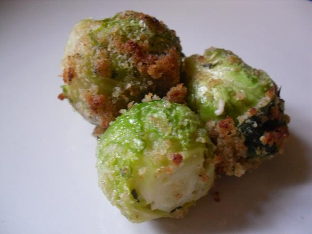 Breaded Brussels Sprouts. Photo by Oliver & Fischer's Mommy
