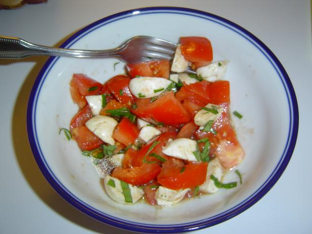 Fresh Tomato &amp; Mozzarella Salad. Photo by The Left Handed Chef