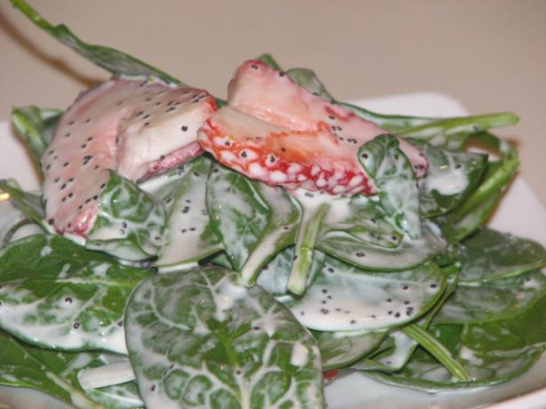 Strawberry Spinach Salad With Sweet Mayo Dressing. Photo by Bonnie G #2