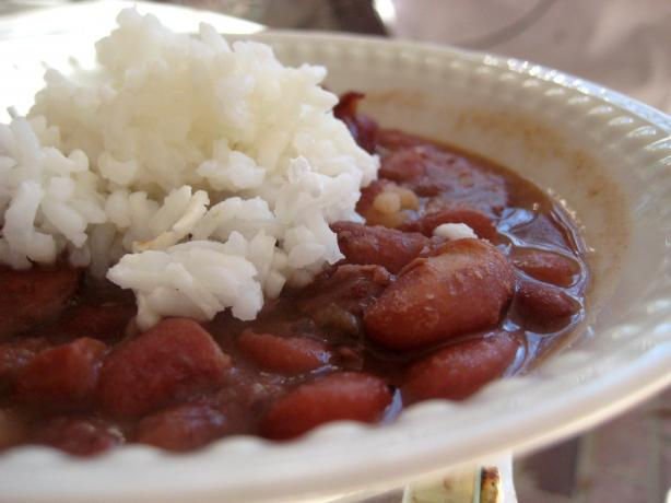 Cream-Style Red Beans and Rice. Photo by gailanng